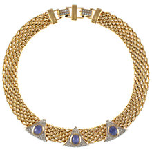 Buy Eclectica 1980s Gold Plated Cabochon Necklace Online at johnlewis.com