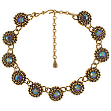 Buy Eclectica 1960s Gold Plated Blue Stone Necklace Online at johnlewis.com