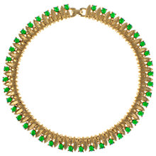 Buy Eclectica 1960s Boucher Gold Plated Emerald Green Cabochon Necklace Online at johnlewis.com
