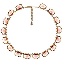 Buy Eclectica 1950s Gold Plated Purple Oval Stones Necklace Online at johnlewis.com