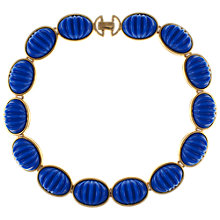 Buy Eclectica 1980s Gold Plated Blue Cabochons Necklace Online at johnlewis.com