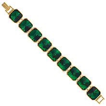 Buy Eclectica 1980s Gold Plated Green Stone Bracelet, Green Online at johnlewis.com