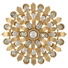 Buy Eclectica 1960s Trifari Gold Toned Faux Pearl Sunburst Brooch Online at johnlewis.com