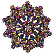 Buy Eclectica 1960s Large Rivoli Glass Stone Brooch, Purple Online at johnlewis.com