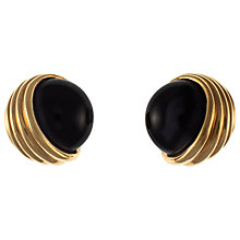 Buy Eclectica Panetta Glass Cabochon Swirl Earrings, Gold / Black Online at johnlewis.com