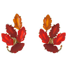 Buy Eclectica 1960s Gold Plated Thermoplastic Clip-On Earrings, Orange Online at johnlewis.com