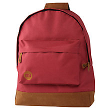 Buy Mi-Pac Classic Backpack, Burgundy Online at johnlewis.com