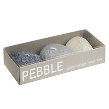 Buy John Lewis Pebble Tealights, Set Of 3 Online at johnlewis.com