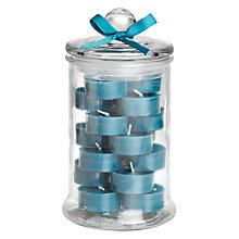 Buy John Lewis Jar of Tealights, Assorted Online at johnlewis.com