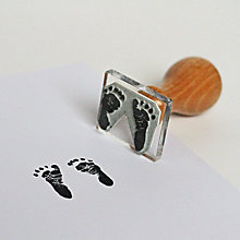 Buy StompStamps Personalised Pair Footprints Mini Stamp Online at johnlewis.com