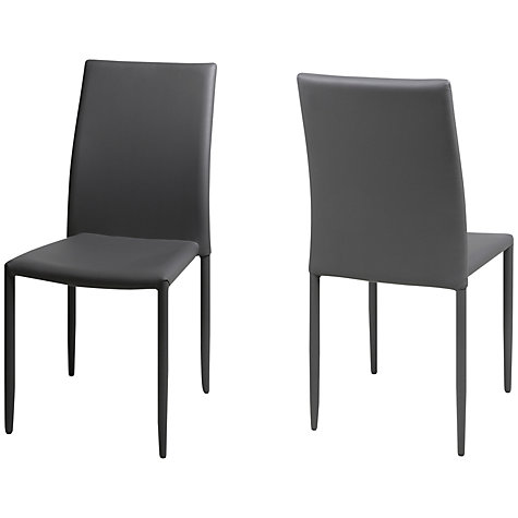 Buy John Lewis Piana Dining Chairs, Set of 2, Grey Online at johnlewis.com