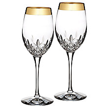 Buy Waterford Lismore Essence Gold Wine Glasses, Set of 2 Online at johnlewis.com