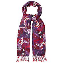 Buy White Stuff Painted Lady Butterfly Scarf, Purple Online at johnlewis.com