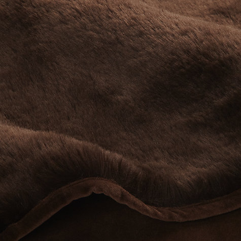 Buy Helen Berman Faux Fur Plush Throw, Chocolate Online at johnlewis.com