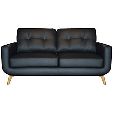 Buy John Lewis Barbican II Medium Leather Sofa with Light Legs Online at johnlewis.com