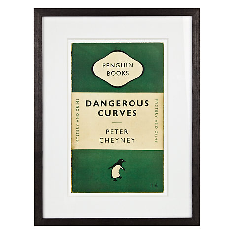 Buy Peter Cheyney - Dangerous Curves by Peter Cheyney Framed Print, 42 x 32cm Online at johnlewis.com