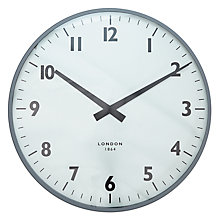 Buy John Lewis Croft Collection Dalston Wall Clock, Dia.47cm, Grey Online at johnlewis.com