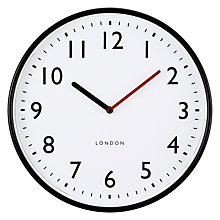 Buy John Lewis House Wall Clock, Black Online at johnlewis.com