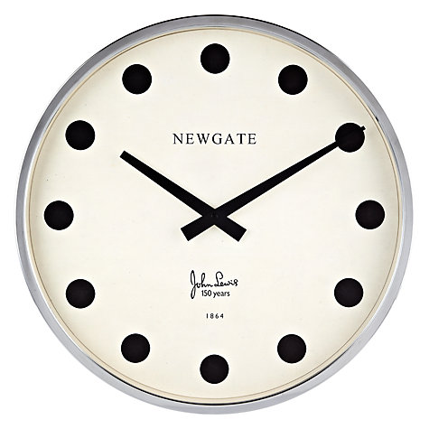 Buy Newgate Stationery Limited Edition Clock, Dia.45cm Online at johnlewis.com