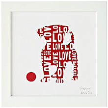 Buy Bertie & Jack 'Puppy Love' Framed Cut-out, 20 x 20cm Online at johnlewis.com