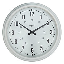 Buy John Lewis Croft Collection Carlisle Clock, Dia.36cm, Cream Online at johnlewis.com