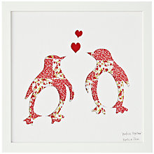 Buy Bertie & Jack 'Perfect Together' Penguin Framed Cut-out, 27.4 x 27.4cm Online at johnlewis.com