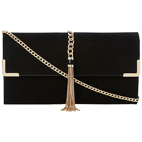 Buy Dune Edgie Clutch Bag, Black Online at johnlewis.com