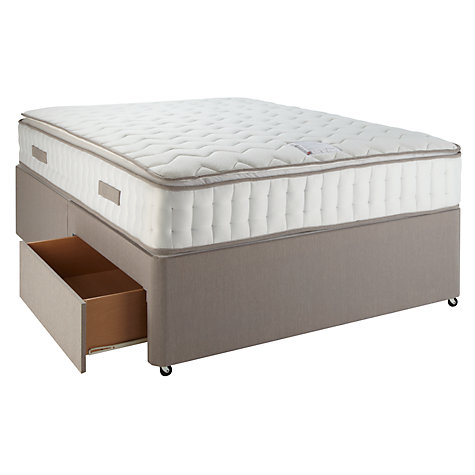 Buy John Lewis Pillow Top Pocket 2000 Mattress and Divan Set, Double Online at johnlewis.com