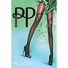 Buy Pretty Polly Navajo Patterned Tights, Black Online at johnlewis.com