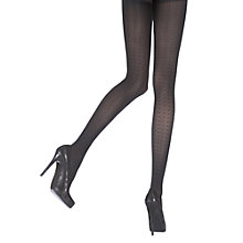 Buy Pretty Polly Dotted Row Patterned Tights, Black Online at johnlewis.com