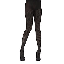 Buy Pretty Polly Layered Honeycomb Tights, Black Online at johnlewis.com