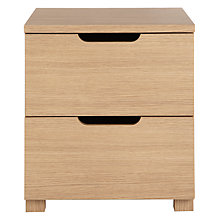 Buy John Lewis The Basics Bryn Bedside Table, Oak Online at johnlewis.com