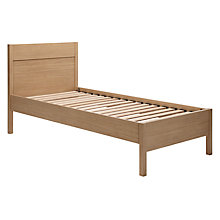 Buy John Lewis The Basics Bryn Bedstead, Single, Oak Online at johnlewis.com