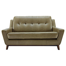 Buy G Plan Vintage The Fifty Three Small Leather Sofa, Olive Green Online at johnlewis.com