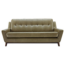 Buy G Plan Vintage Fifty Three Large Leather Sofa, Olive Green Online at johnlewis.com