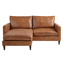 Buy John Lewis Bailey LHF Leather Chaise End Sofa, Lustre Cappuccino Online at johnlewis.com