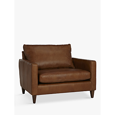 John Lewis Bailey Leather Snuggler, Lustre Cappuccino