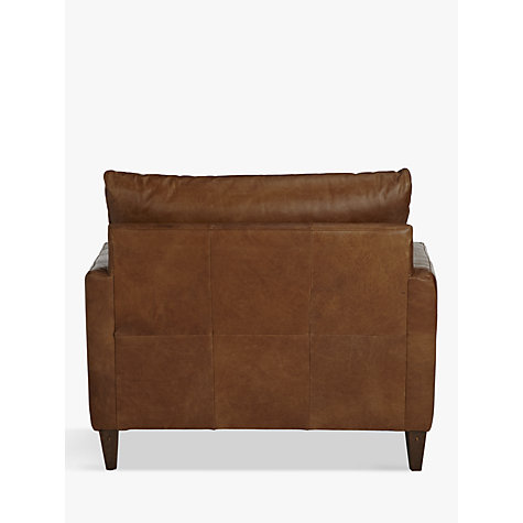 Buy John Lewis Bailey Semi-Aniline Leather Snuggler, Lustre Cappuccino Online at johnlewis.com