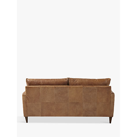 Buy John Lewis Bailey Medium Semi-Aniline Leather Sofa, Lustre Cappuccino Online at johnlewis.com