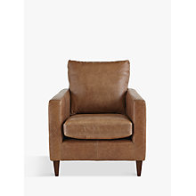 Buy John Lewis Bailey Leather Armchair, Lustre Cappuccino Online at johnlewis.com