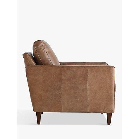Buy John Lewis Bailey Semi Aniline Leather Armchair Lustre Cappuccino John