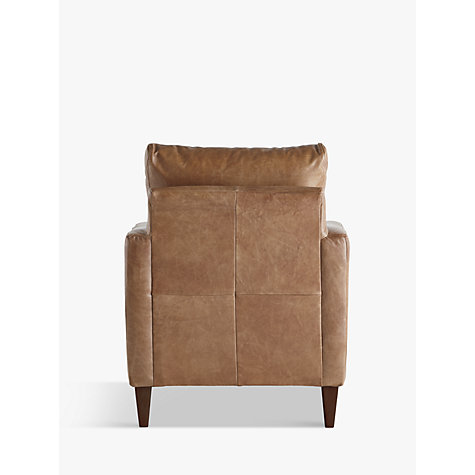 Buy John Lewis Bailey Semi-Aniline Leather Armchair, Lustre Cappuccino Online at johnlewis.com