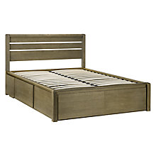 Buy John Lewis Montana Storage Bedstead, Double, Grey Online at johnlewis.com