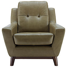 Buy G Plan Vintage The Fifty Three Leather Armchair, Olive Green Online at johnlewis.com