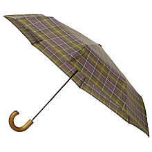 Buy Barbour Tartan Tele Umbrella, Olive Online at johnlewis.com