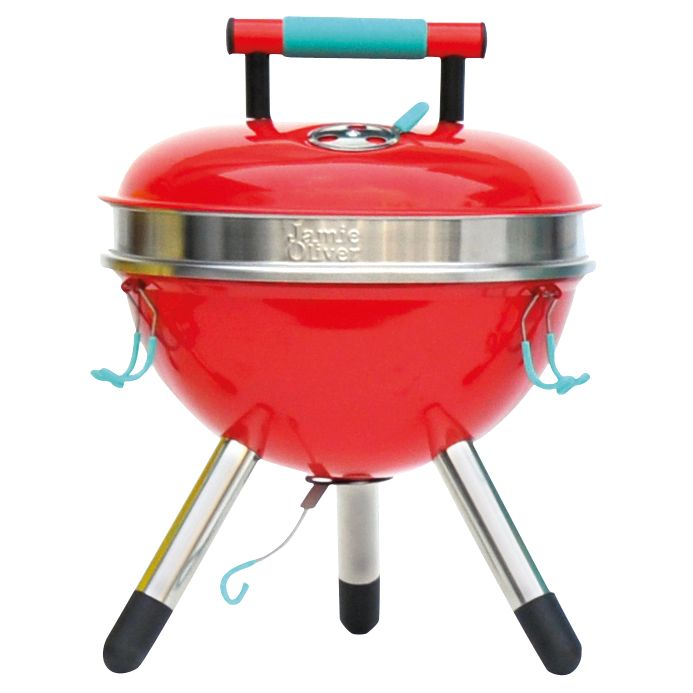 Jamie Oliver The Park Portable Charcoal Barbecue, Red