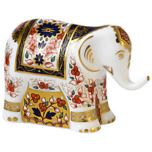 Buy Royal Crown Derby Imari Infant Elephant Paperweight, Multi Online at johnlewis.com