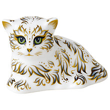 Buy Royal Crown Derby Millie Kitten Paperweight, Multi Online at johnlewis.com