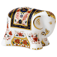 Buy Royal Crown Derby Imari Baby Elephant Paperweight, Multi Online at johnlewis.com