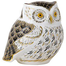 Buy Royal Crown Derby Little Grey Owl Paperweight, Multi Online at johnlewis.com